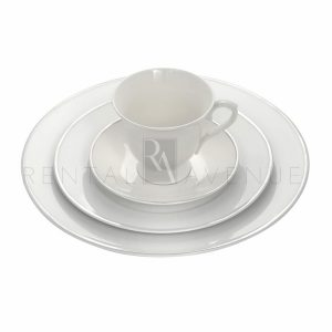 Silver Rim Dinnerware Collection