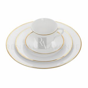 Gold Rim Dinnerware Collection