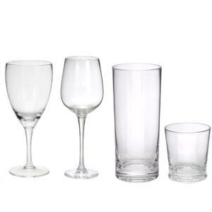 Clear Glassware Collection